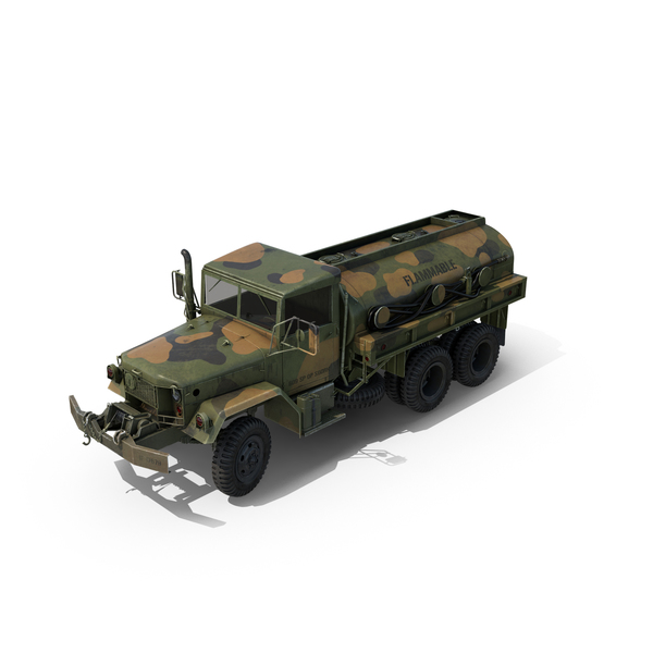 Military Trailer: Fuel Tank Truck M49 PNG & PSD Images