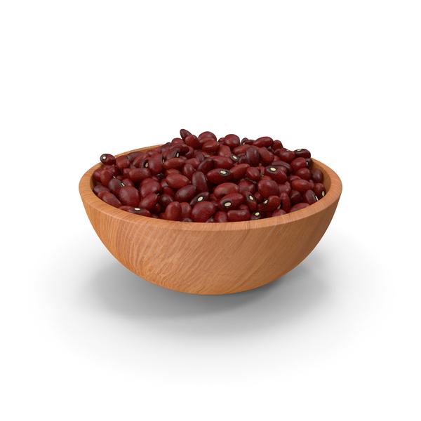 Full Bowl of Dark Red Kidney Beans PNG & PSD Images