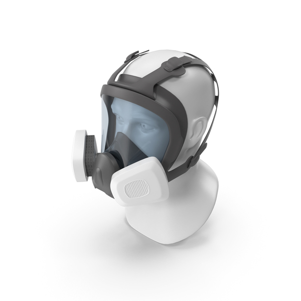 Gas Mask: Full Face Reusable Double Filters Respirator PNG & PSD Images