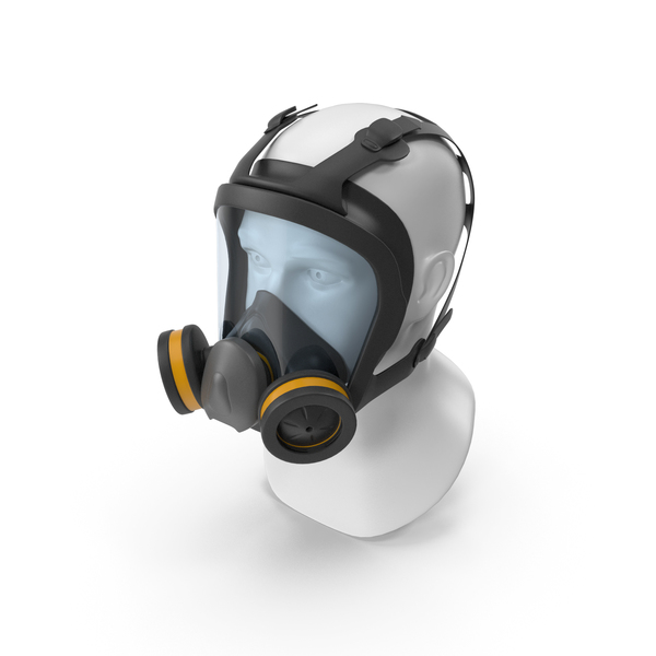 Full Face Reusable Double Filters Respirator PNG & PSD Images