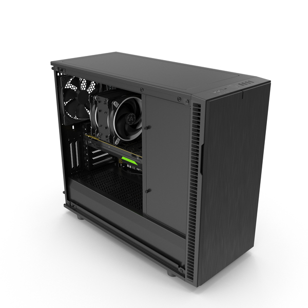 Desktop Computer: Full PC Case Open PNG & PSD Images