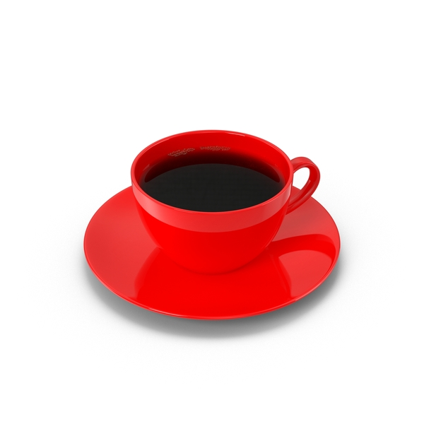 Full Red Coffee Cup Object