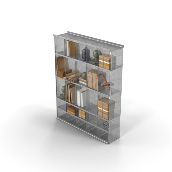 Steel Shelf: Full Shelves PNG & PSD Images