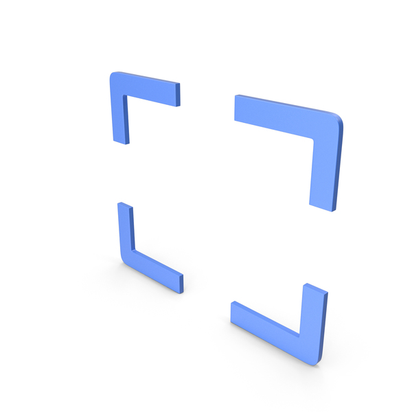 Computer Icon: Fullscreen Blue Symbol PNG & PSD Images