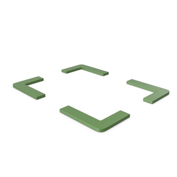 Computer Icon: Fullscreen Green Symbol PNG & PSD Images