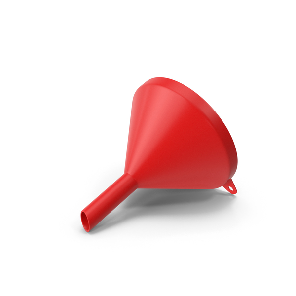 Plastic: Funnel Red PNG & PSD Images