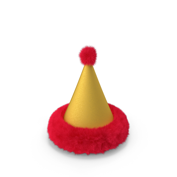 Fur Cone Party Hat PNG & PSD Images