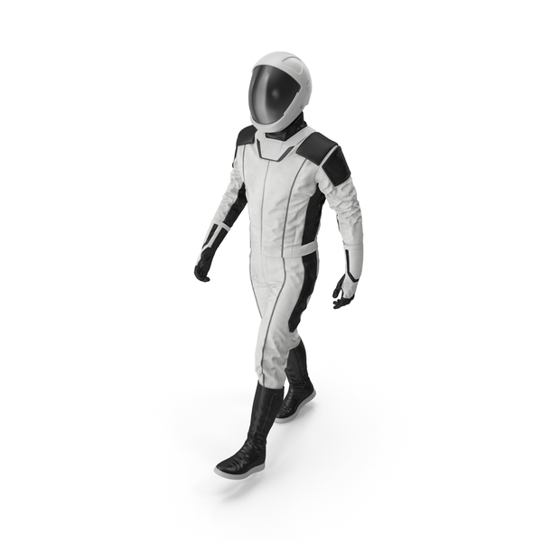 Futuristic Astronaut Space Suit Walking Pose PNG & PSD Images