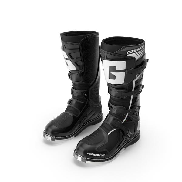 Gaerne SG10 Mens Black Motocross Boots PNG & PSD Images