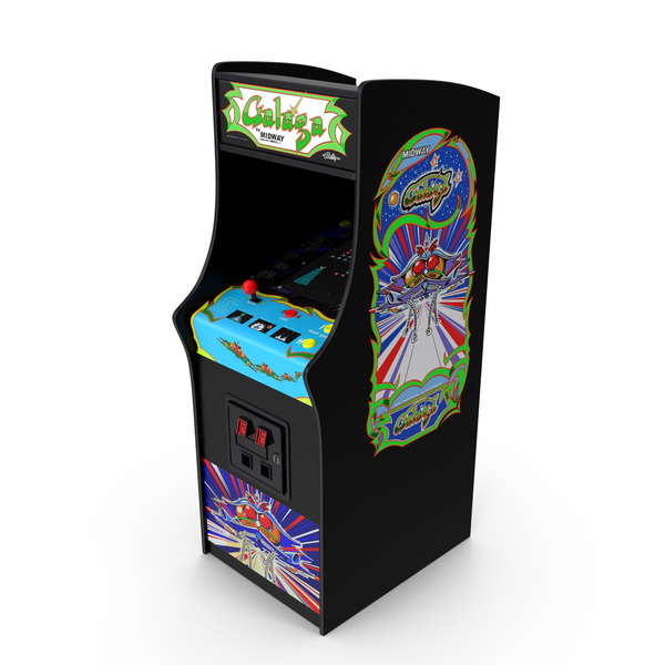 Galaga Arcade Cabinet PNG & PSD Images