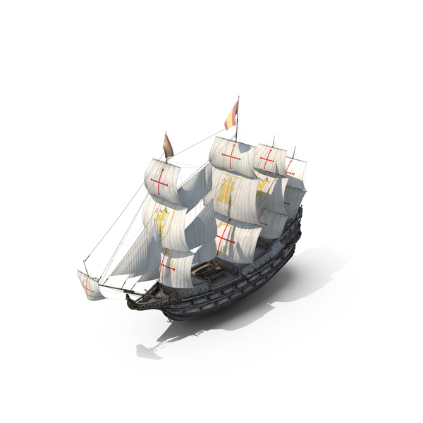 Galleon Old Historical Sail Ship Object