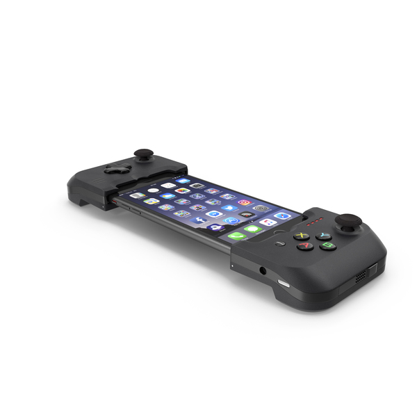 Smartphone: Gamevice Controller with iPhone 8 Plus PNG & PSD Images