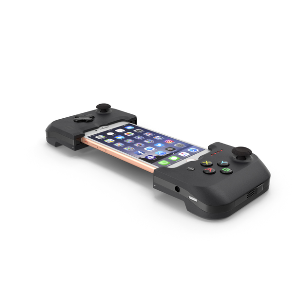 Smartphone: Gamevice Controller with Iphone 8 PNG & PSD Images
