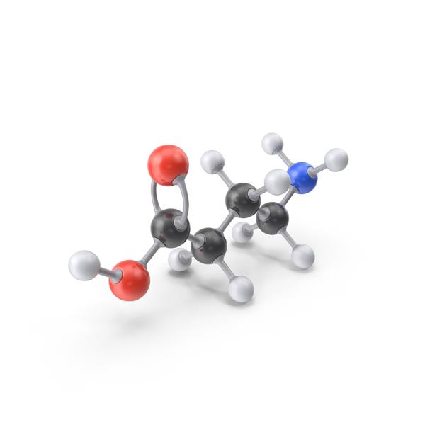 Gamma Aminobutyric Acid Molecule PNG & PSD Images