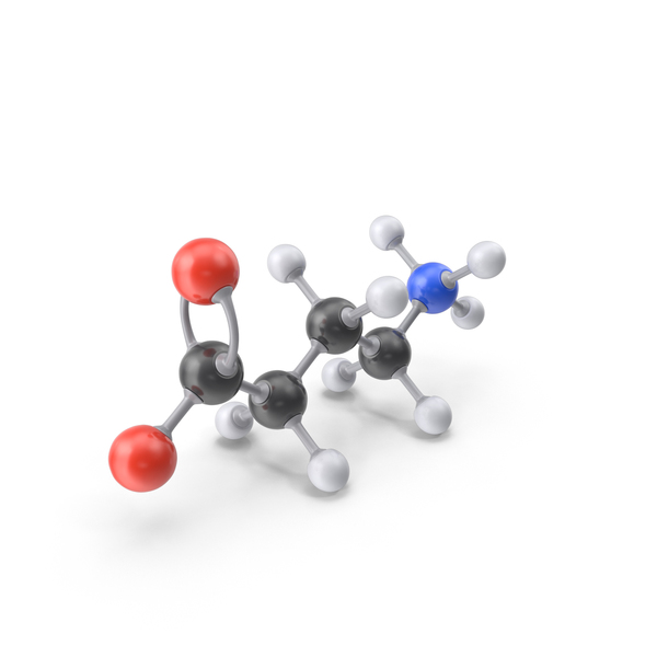 Gamma Aminobutyric Acid Zwitterion Molecule PNG & PSD Images