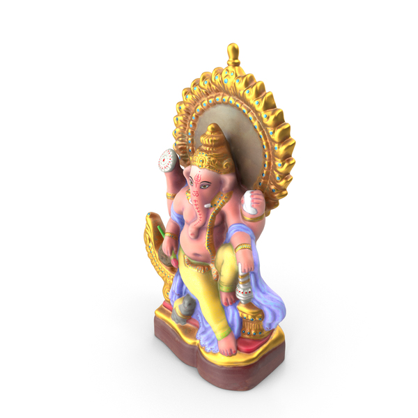 Ganesha Сolored Statue PNG & PSD Images