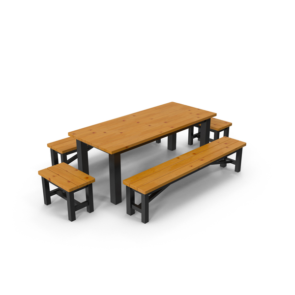 Patio Furniture: Garden Dining Table Set PNG & PSD Images
