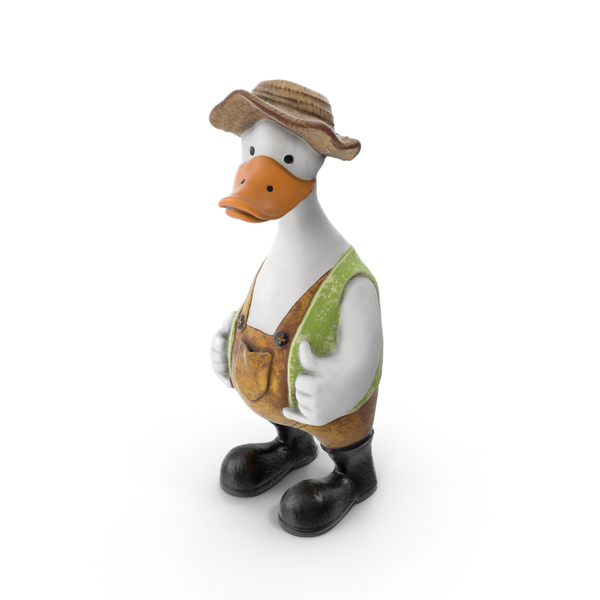 Figurine: Garden Duck PNG & PSD Images