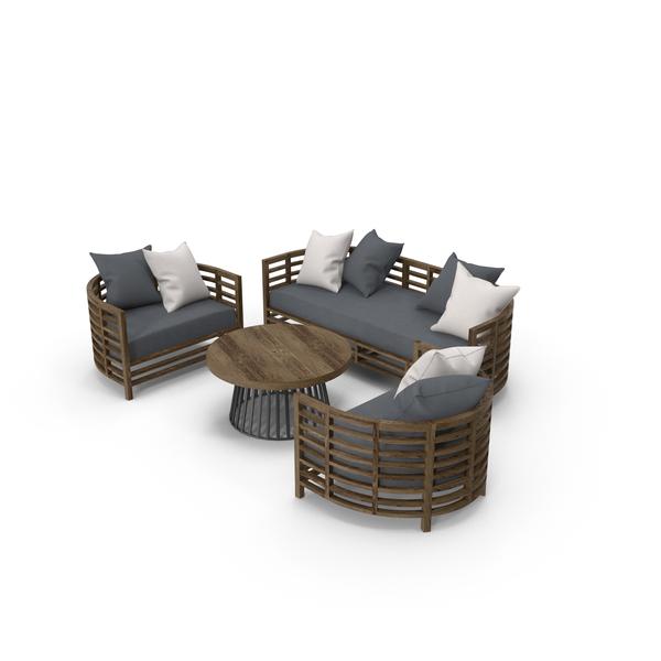 Patio: Garden Furniture Set PNG & PSD Images