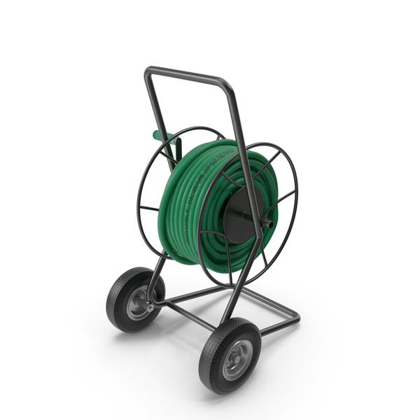 Garden Reel Cart Trolley with Hose PNG & PSD Images