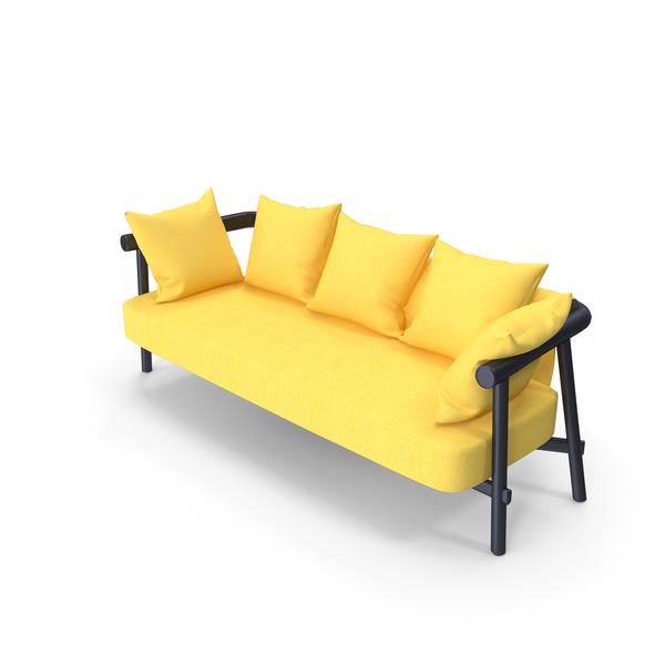 garden sofa yellow PNG & PSD Images