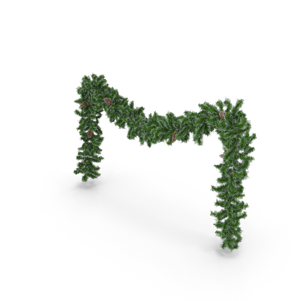 Christmas Wreath: Garland Frosted Long PNG & PSD Images