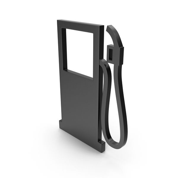 Retro Pump: Gas Station Black Icon PNG & PSD Images