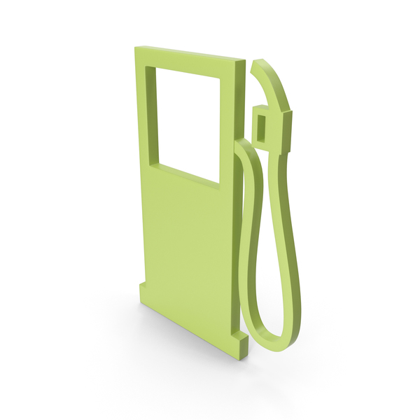 Retro Pump: Gas Station Green Icon PNG & PSD Images
