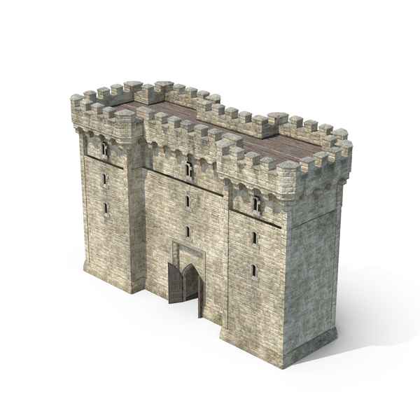 Gatehouse with Open Door PNG & PSD Images