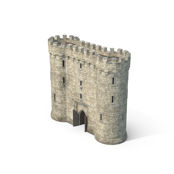 Gatehouse with Open Doors PNG & PSD Images