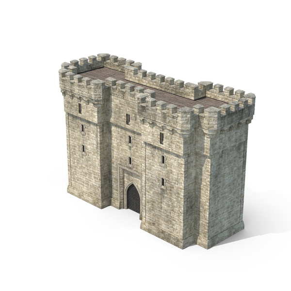 Gatehouse with Portcullis Object