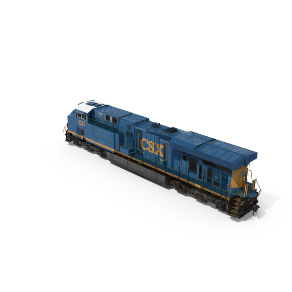 GE ES44AC Locomotive CSX Transportation PNG & PSD Images