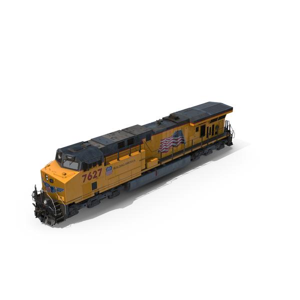 GE ES44AC Locomotive Union Pacific Railroad PNG & PSD Images