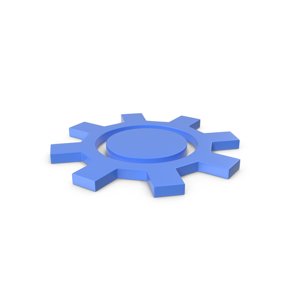 Computer: Gear Blue Icon PNG & PSD Images