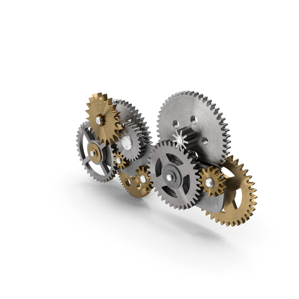Gear Mechanism Mixed PNG & PSD Images