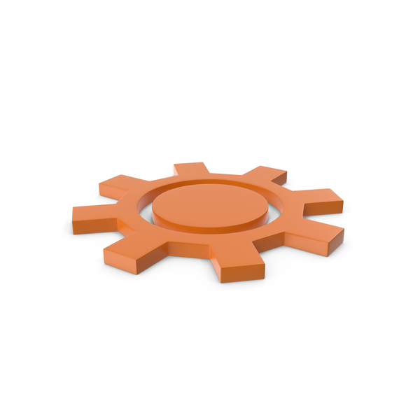 Industrial Equipment: Gear Orange Icon PNG & PSD Images