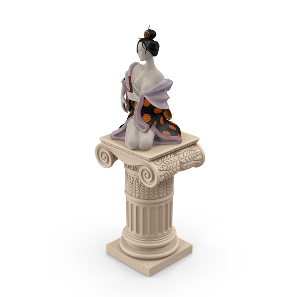 Geisha Statue PNG & PSD Images