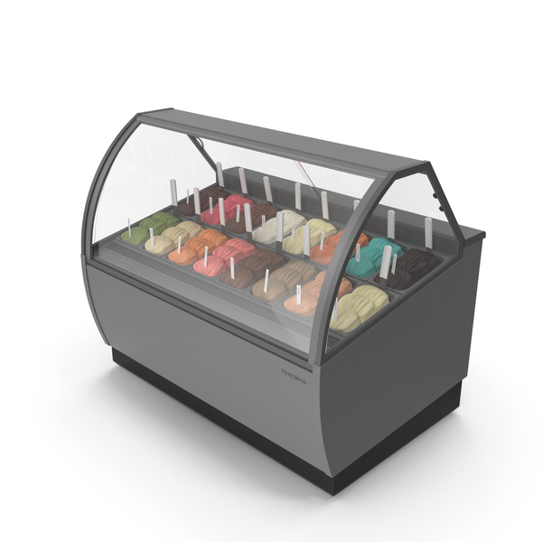 Supermarket Freezer: Gelato - Ice Cream Case PNG & PSD Images