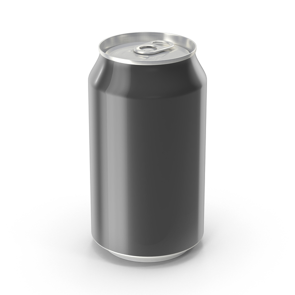 Generic Black Can 355ml PNG & PSD Images