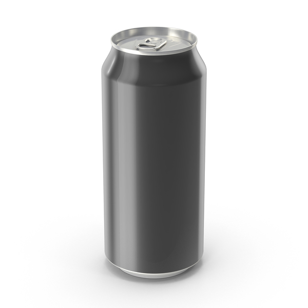 Aluminum: Generic Black Can 473ml PNG & PSD Images