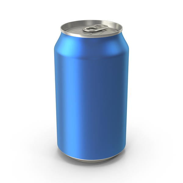 Aluminum: Generic Blue Can 355ml PNG & PSD Images
