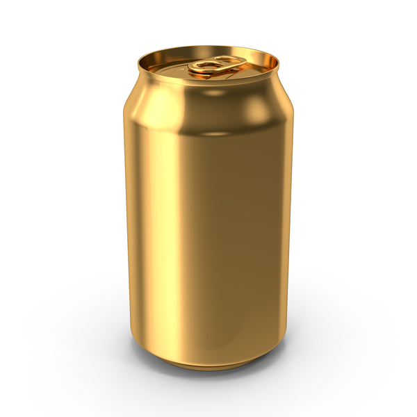 Soda: Generic Gold Can 355ml PNG & PSD Images