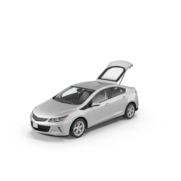 Generic Hybrid Car with Open Trunk PNG & PSD Images