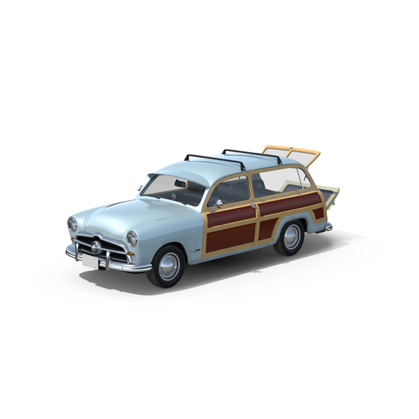 Station Wagon: Generic Retro Car Object