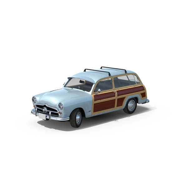 Station Wagon: Generic Retro Car PNG & PSD Images