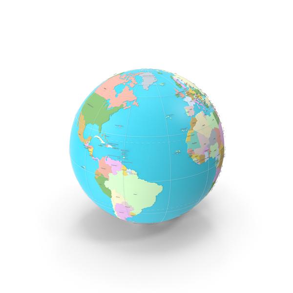 Geopolitical 3D Globe PNG & PSD Images