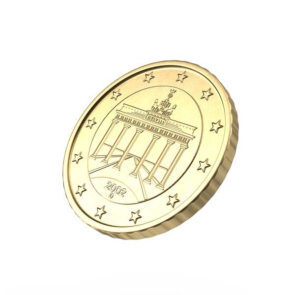 German Euro 50 Cent Coin PNG & PSD Images