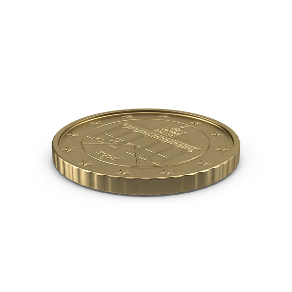 German Euro 50 Cent Coin Object