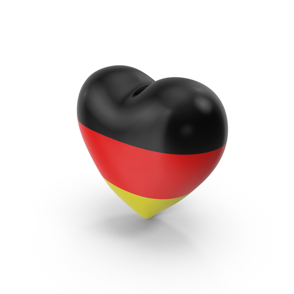 German: Germany Flag Heart Object