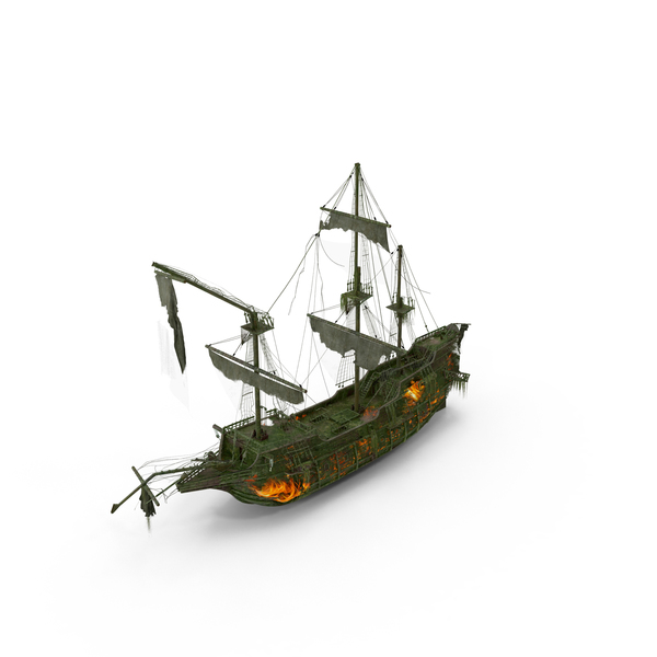 Ghost Pirate Ship PNG & PSD Images